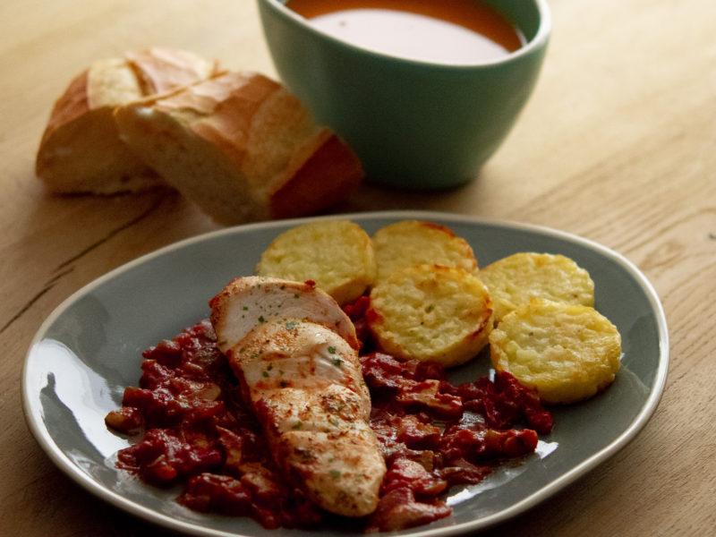 Suggestie van de Chef: Paprikaroomsoep & Provençaalse kip