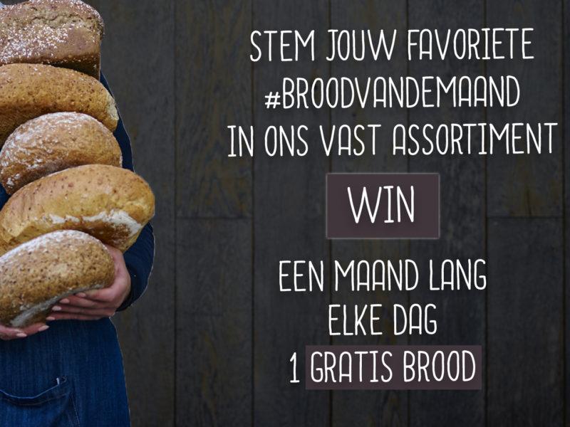 STEM JOUW FAVORIET BROOD VAN DE MAAND IN ONS ASSORTIMENT
