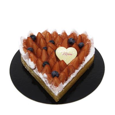 Moederdag Aardbeien Croute Hart (4P.)